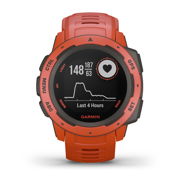 OROLOGIO GPS GARMIN INSTINCT SMARTWATCH 010-02064-02 flame red front view.jpg